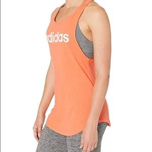 {Adidas} Coral Racerback Loose Tank Top M NWT